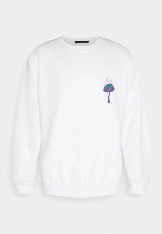 UNISEX SHROOM PRINT SWEATSHIRT - Sweatshirt - white