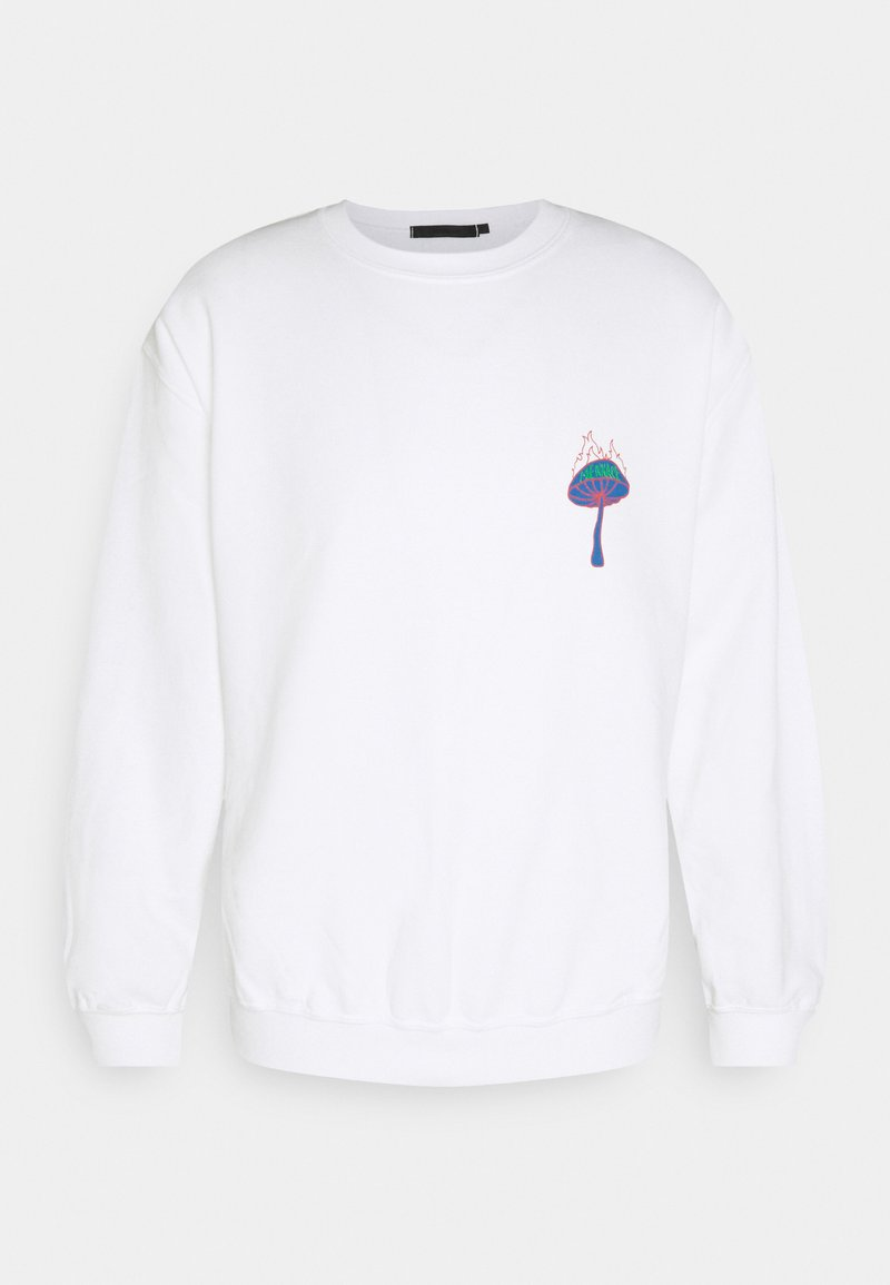 Mennace - UNISEX SHROOM PRINT SWEATSHIRT - Sweatshirt - white