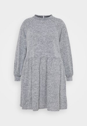 FUZZY RAGLAN - Jumper dress - dark grey