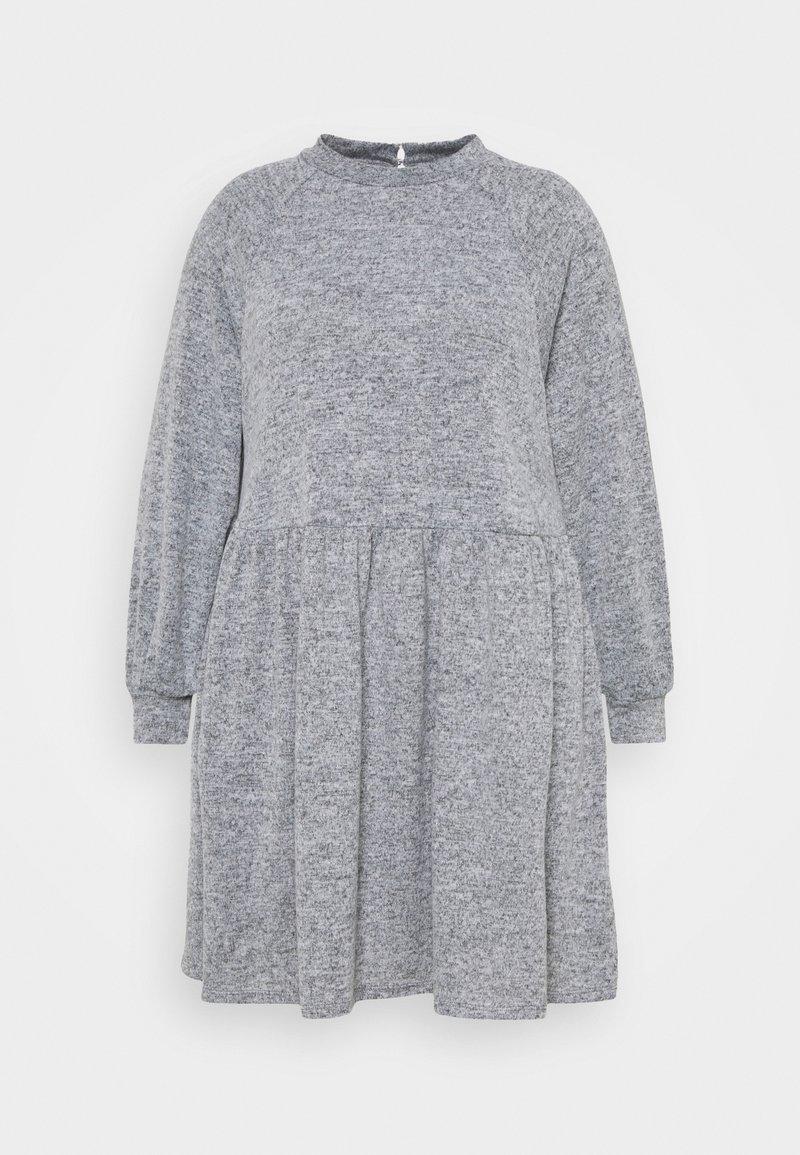 New Look Curves - FUZZY RAGLAN - Jumper dress - dark grey