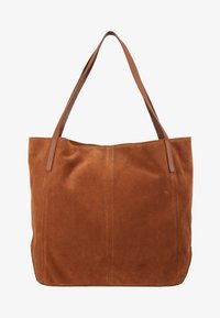 Anna Field - LEATHER - Shopping bag - cognac - 5