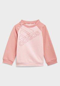 adidas Performance - FLEECE SWEATSHIRT SET - Chándal - pink - 1