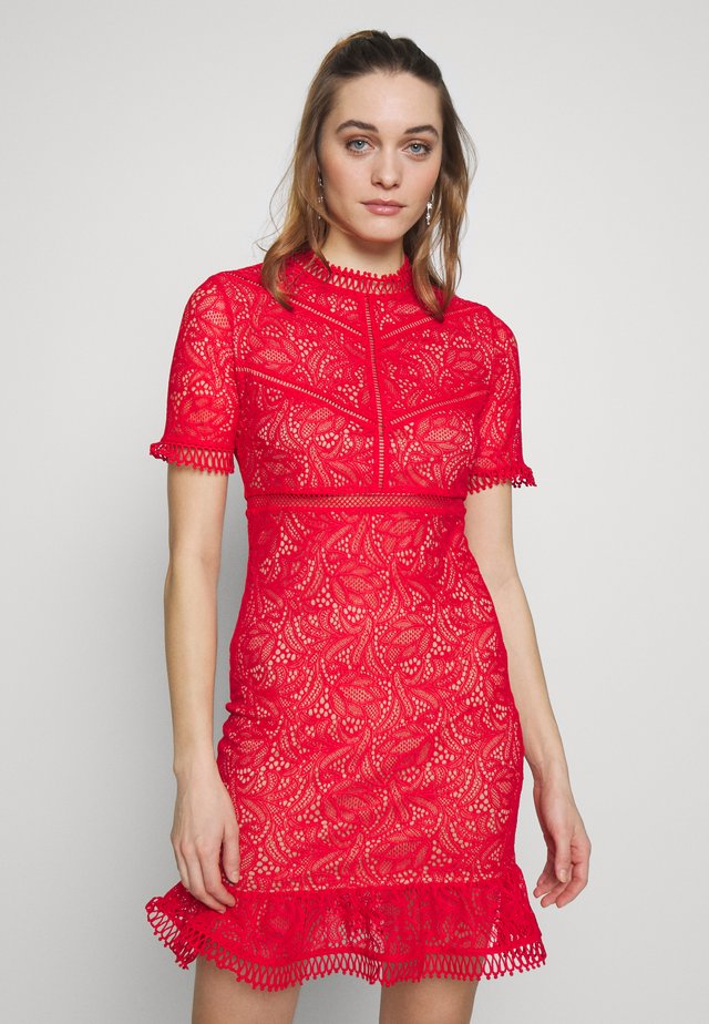 THEODORA DRESS - Juhlamekko - fire red