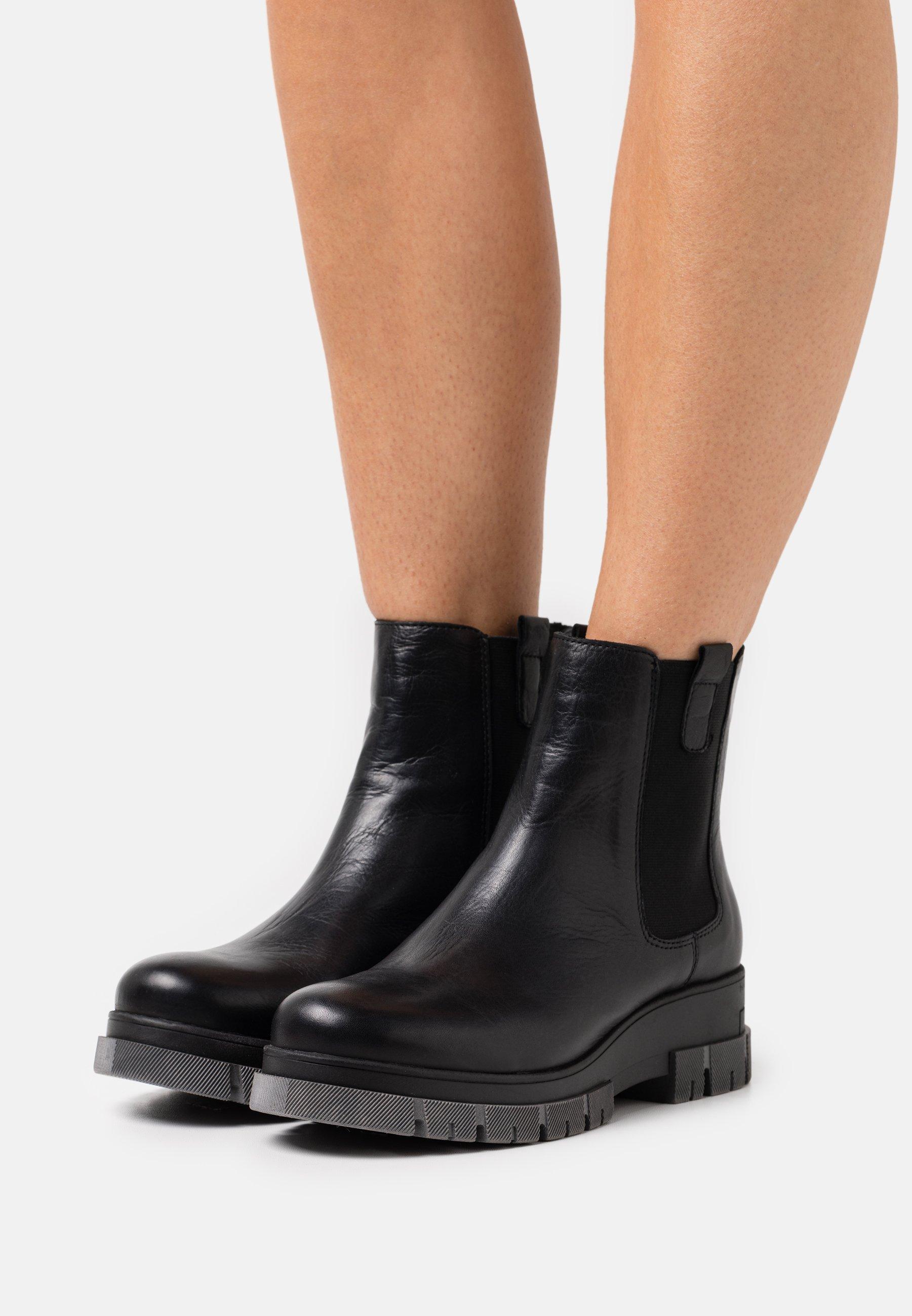 Women BIADEVINA SHORT CHELSEA BOOT - Platform ankle boots - black