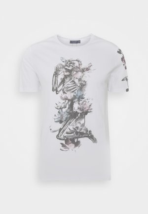 LOTUS SKELETON TEE - Print T-shirt - white