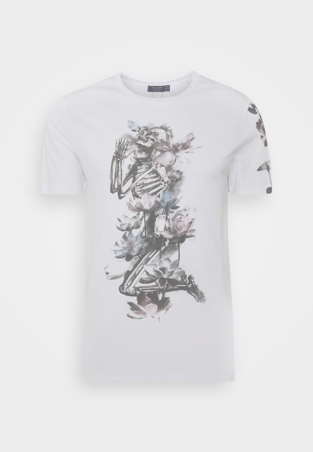 LOTUS SKELETON TEE - T-shirts med print - white