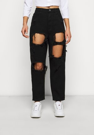RIOT HIGH RISE - Jean droit - black