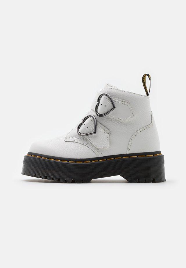 DEVON HEART - Platform ankle boots - white aunt sally