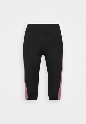 WINTER - BRUSHED INNER MATERIAL - 3/4 sports trousers - black