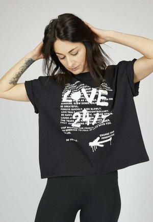 ICON - T-shirt con stampa - black color