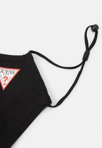 Guess - SINGLE FACEMASK UNISEX - Stoffen mondkapje - jet black - 7