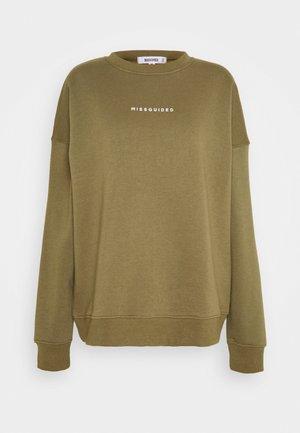 BASIC OVERSIZED - Sweater - khaki