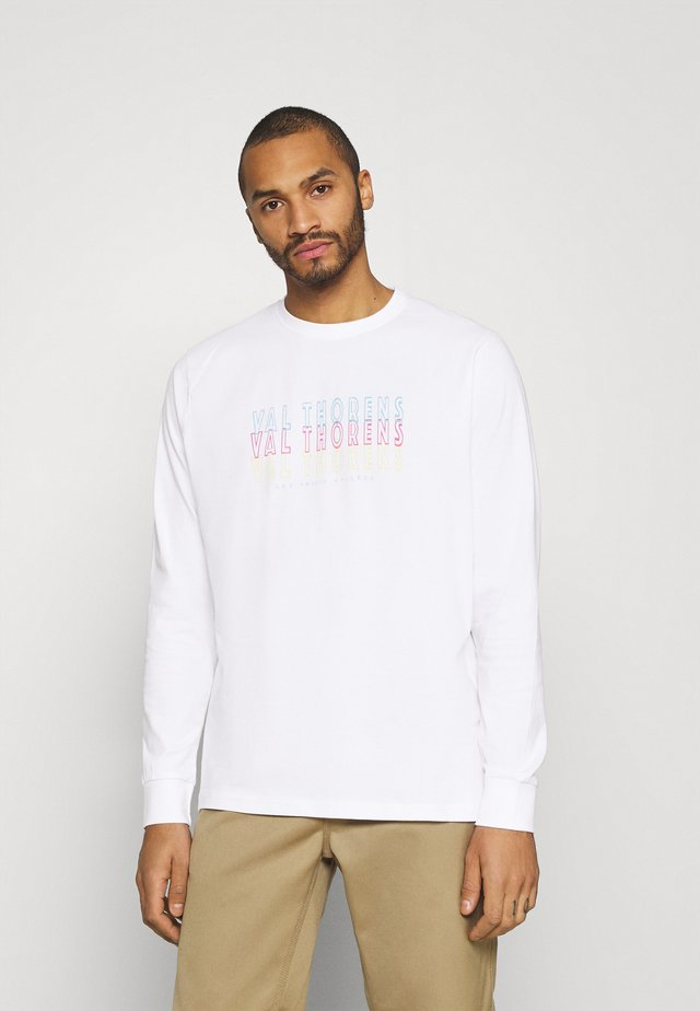 FRONT BACK GRAPHIC LONG SLEEVE UNISEX - Long sleeved top - white