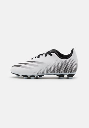 GHOSTED.4 FXG UNISEX - Moulded stud football boots - footwear white/core black/silver metallic