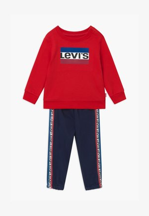 CREW SET - Tracksuit - red/dark blue