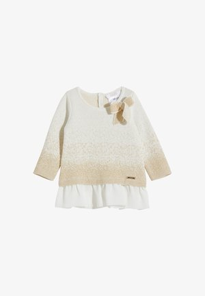 Jumper dress - white/gold