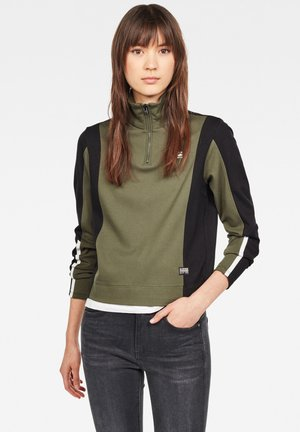 NOSTELLE FYX BIKER HALFZIP - Long sleeved top - algae/black