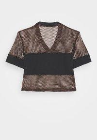 Fila - NIVEO CROPPED - Print T-shirt - black - 7