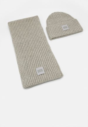 CHUNKY SET - Scarf - light grey