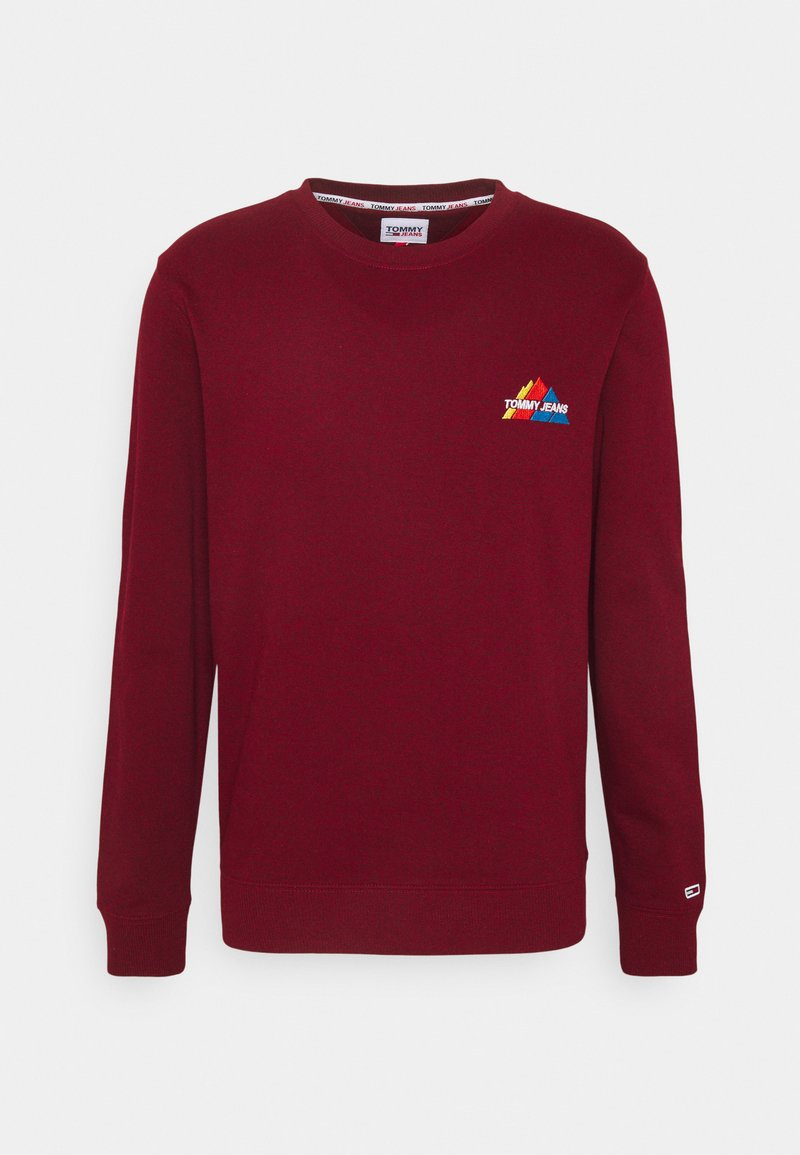 Tommy Jeans - MOUNTAIN GRAPHIC CREW - Sweatshirt - wine red heather