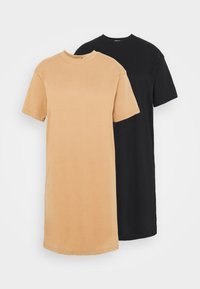 BASIC DRESS SET - Žerzejové šaty - black
