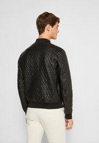 Emporio Armani - BLOUSON - Leather jacket - black - 2