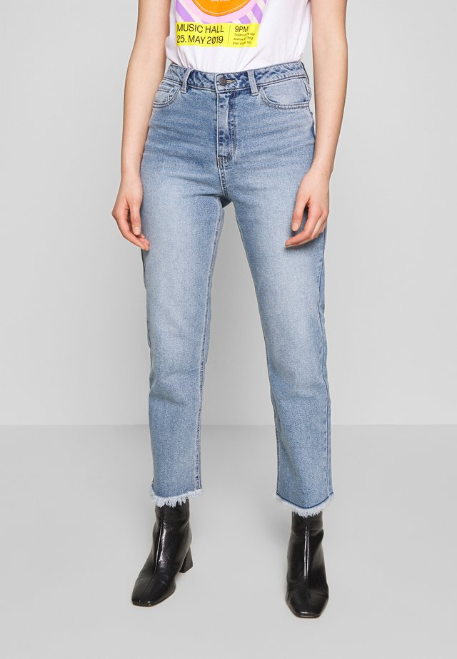 OBJZANA - Straight leg jeans - light blue denim