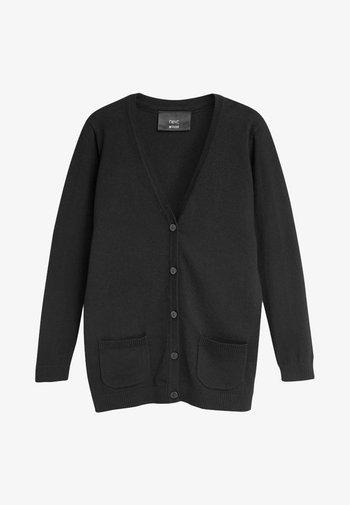 BLACK LONGER LENGTH V-NECK CARDIGAN (3-16YRS) - Cardigan - black