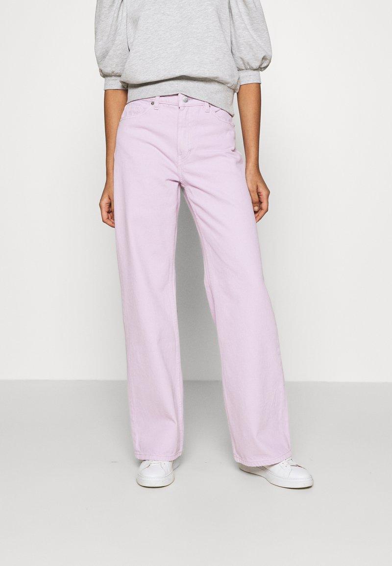 Monki - YOKO - Straight leg jeans - lilac purple light