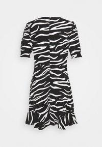 Marks & Spencer London - FRILL SKATER MINI - Day dress - black - 1