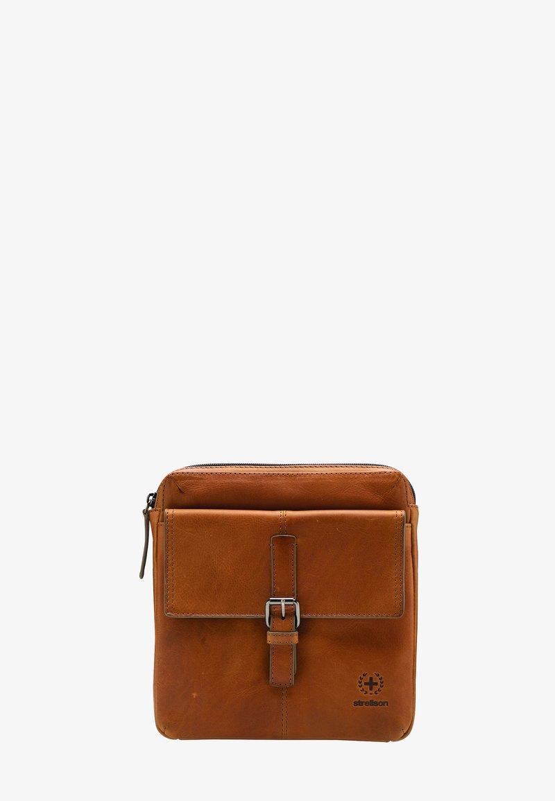 Strellson Premium - BLACKWALL - Across body bag - cognac