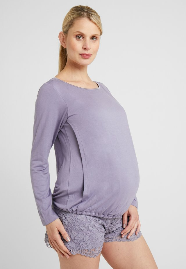 BREASTFEEDING TUNIC - Pyjama top - lilac