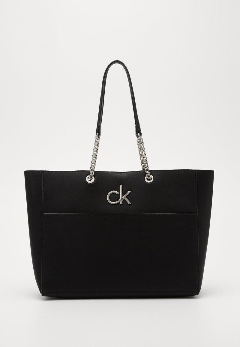 Calvin Klein - RELOCK SHOPPER - Velká kabelka - black