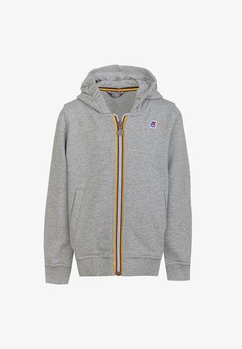 Zip-up sweatshirt - light grey melange