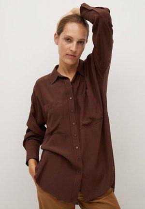 FOG - Button-down blouse - hnědá