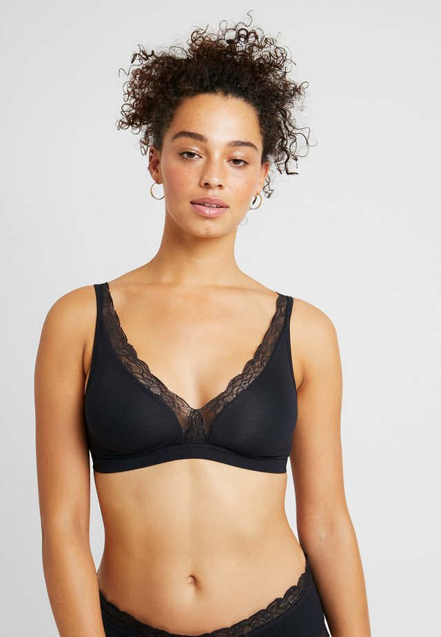SOFT CUP - Triangle bra - black