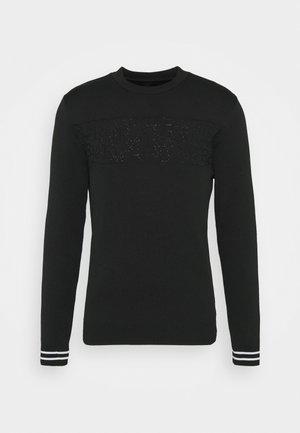 WORDY JUMPER - Stickad tröja - black