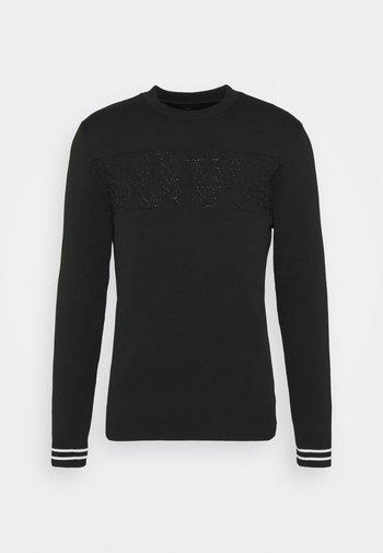 WORDY JUMPER - Sweter - black
