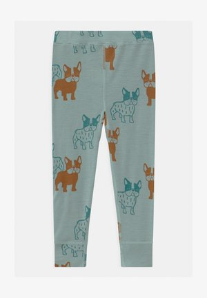 MINI PRINT DOGS UNISEX - Base layer - light dusty aqua