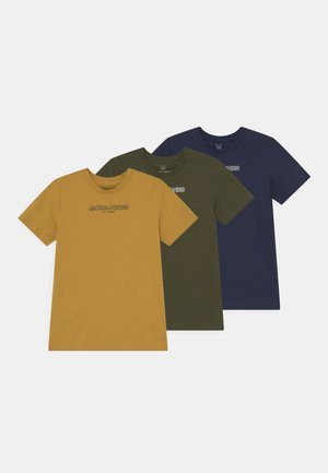 JJBANK TEE CREW NECK JR 3 PACK - T-shirts print - forest night