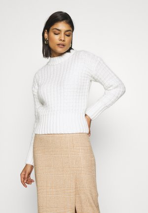 CHUNKY BASKET WEAVE JUMPER - Strikkegenser - cream