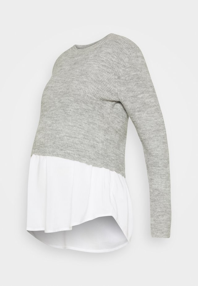 MANDY DETACHABLE NURSING - Strikpullover /Striktrøjer - grey marle