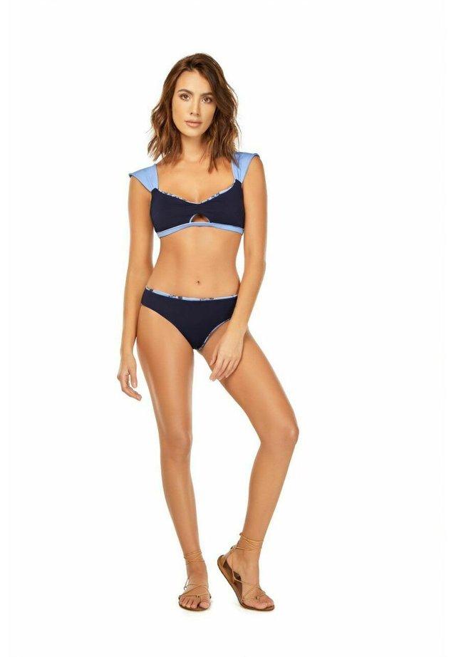 MINI BLOSSOM DRAPED - Bikiniyläosa - blue