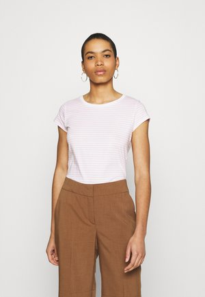 ORGANIC FAVORITE STRIPE TEASY - Print T-shirt - white/light pink