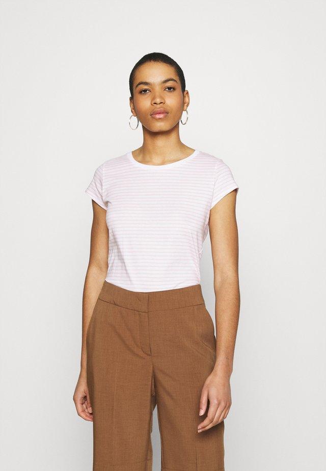 ORGANIC FAVORITE STRIPE TEASY - T-shirts print - white/light pink