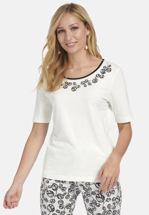 MIT FLORALEM FRONT PRINT - Print T-shirt - white