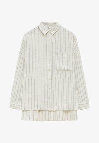 PULL&BEAR - Button-down blouse - mottled beige - 5