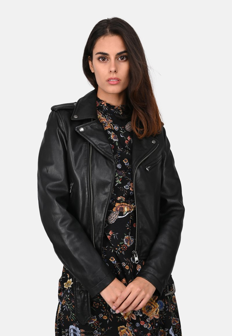 Oakwood - RADIO - Veste en cuir - black