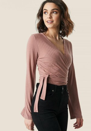WICKELTOP - T-shirt à manches longues - dusty dark pink