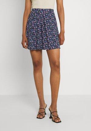 A-line skirt - black/purple